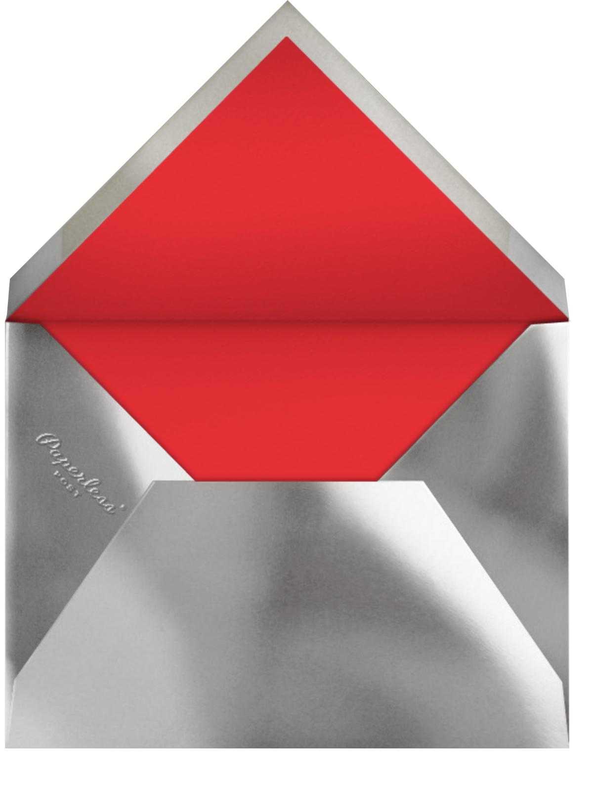 Bordure - Red/Silver - Paperless Post - Christmas - envelope back