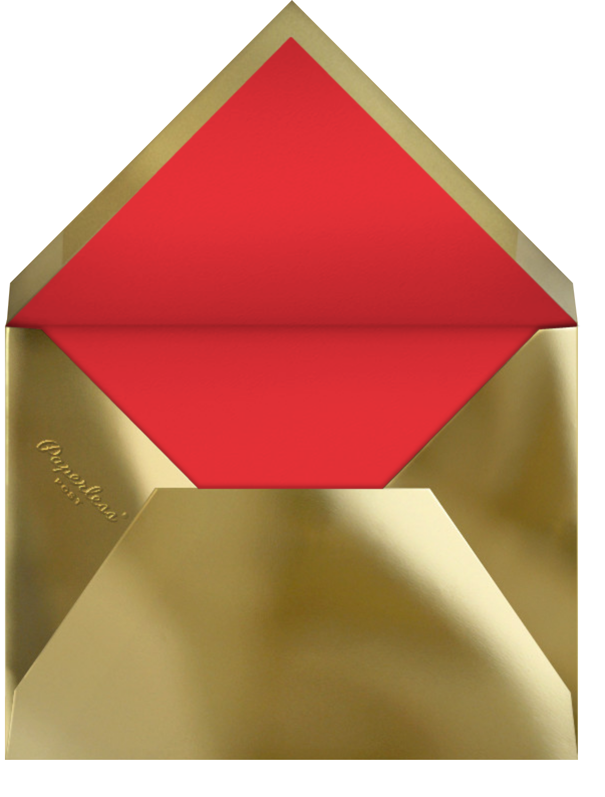 Bordure - Red/Gold - Paperless Post - Christmas - envelope back