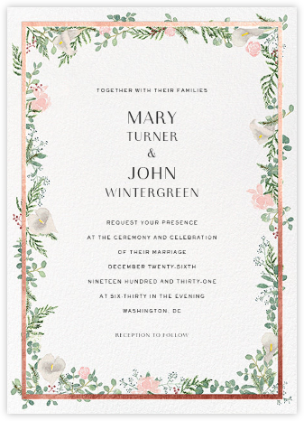 Lautaret (Invitation) - Rose Gold - Paperless Post - Wedding Invitations