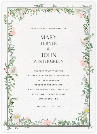 Lautaret (Invitation) - Silver - Paperless Post - Wedding Invitations