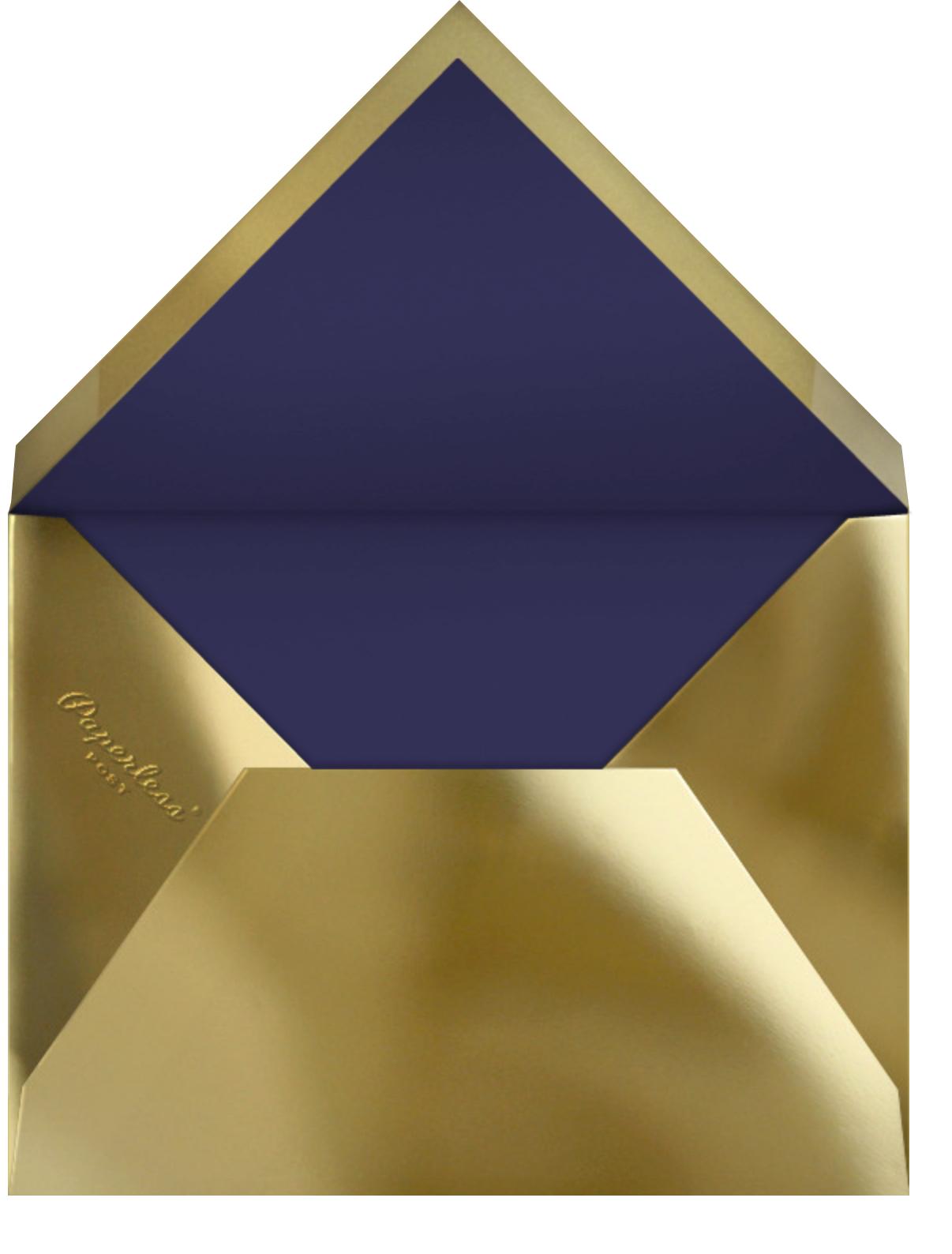 Bordure - Midnight/Gold - Paperless Post - New Year - envelope back