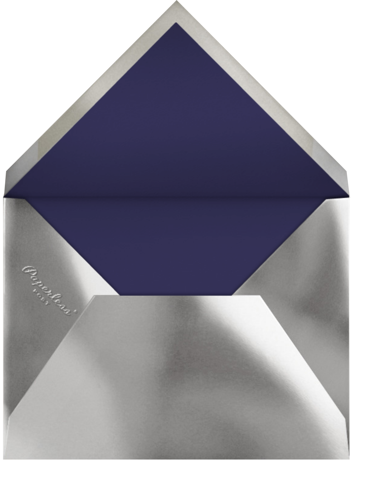 Bordure - Midnight/Silver - Paperless Post - New Year - envelope back
