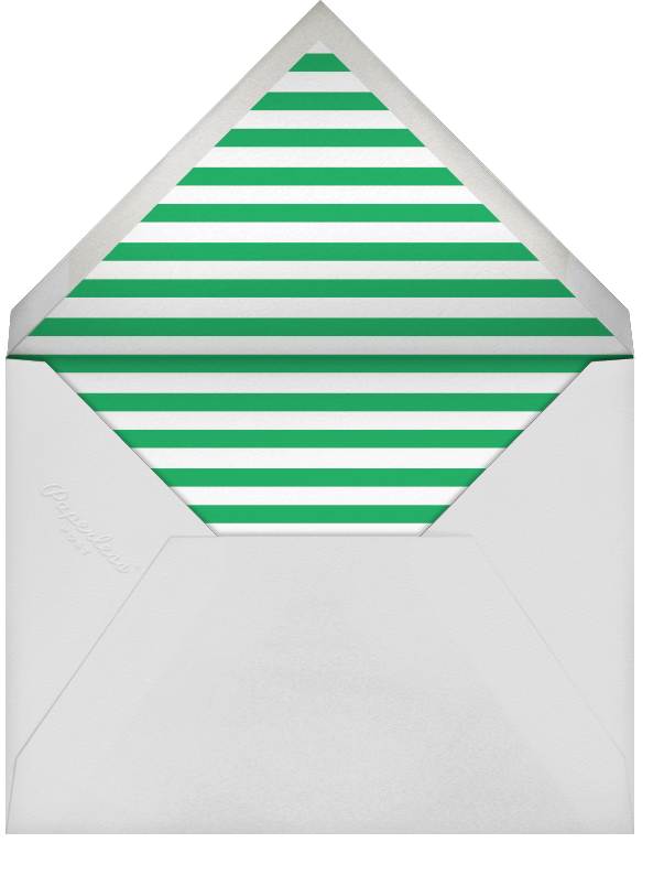 Carreaux (Multi-Photo) - Emerald/Silver - Paperless Post - Holiday cards - envelope back