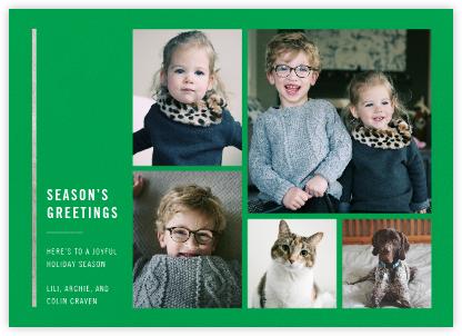 Carreaux (Multi-Photo) - Emerald/Silver - Paperless Post -