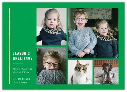 Carreaux (Multi-Photo) - Emerald/Gold - Paperless Post