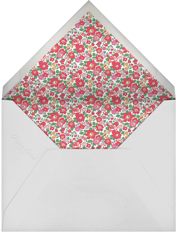 Betsy (Square) - Red - Liberty - Christmas party - envelope back