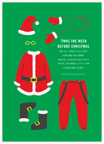 Santa Suits Up - Paperless Post -