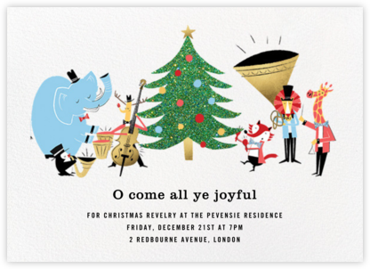 Strike up the Band - Paperless Post - Christmas invitations