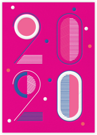 Studio 20 - Bright Pink - Paperless Post - New Year cards