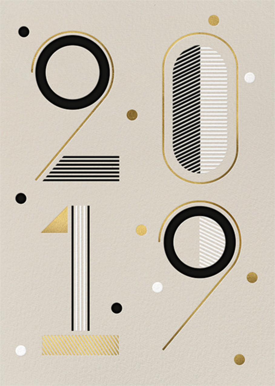 Studio 19 - Cream - Paperless Post - New Year cards