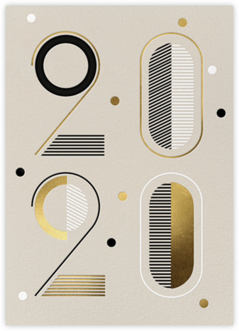 Studio 20 - Cream - Paperless Post - New Year cards