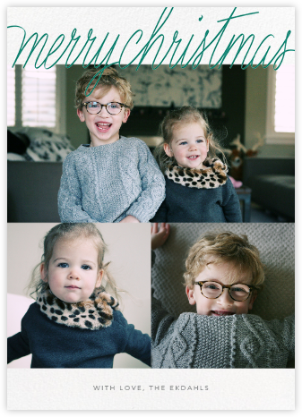 Handwritten Christmas (Tall Multi-Photo) - Paperless Post -