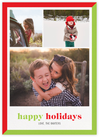 Two-Tone Holiday (Multi-Photo) - Paperless Post - Holiday Cards