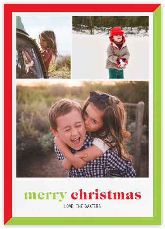 Two-Tone Christmas (Multi-Photo) - Paperless Post -