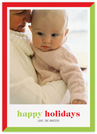 Two-Tone Holiday - Paperless Post - Holiday cards