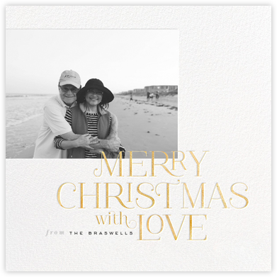Merry Christmas with Love - Gold - bluepoolroad -