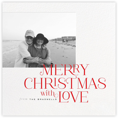 Merry Christmas with Love - Red - bluepoolroad - bluepoolroad invitations and cards