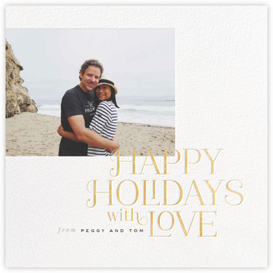 Happy Holidays with Love - Gold - bluepoolroad -