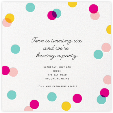 Carnaby - Multi - Paperless Post - Kids' birthday invitations
