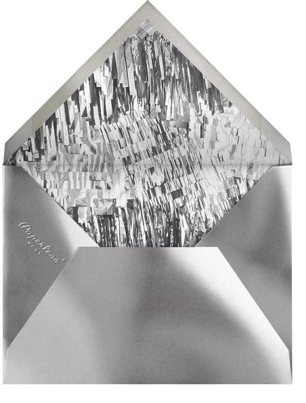 Shimmer - Mint/Silver - CONFETTISYSTEM - Winter parties - envelope back