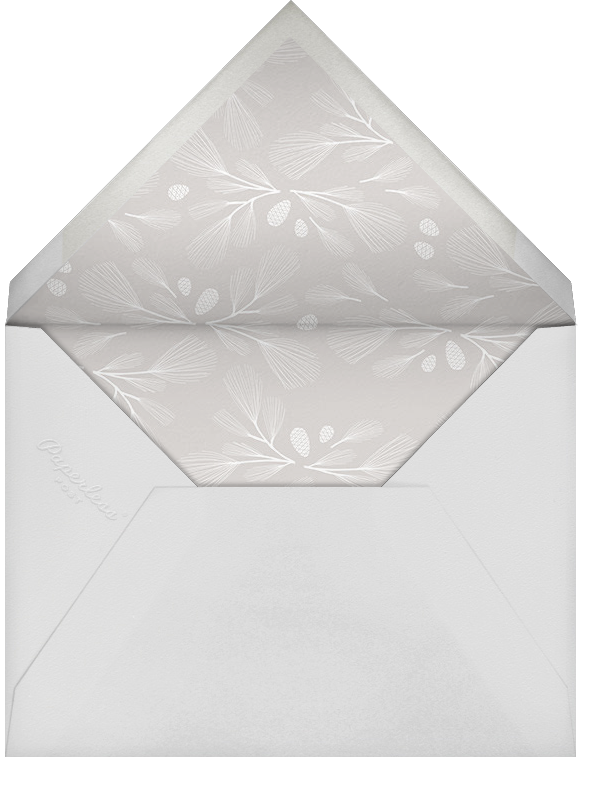 Sugar Pine - White/Rose Gold - Paperless Post - Winter entertaining - envelope back