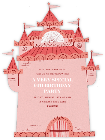 Cotton Candy Castle - Paperless Post - Unicorn invitations