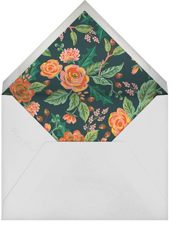 Jardin Noel Border (Portrait Photo) - White - Rifle Paper Co. - Holiday cards - envelope back