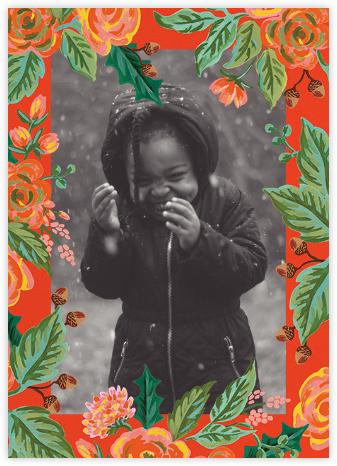 Jardin Noel Border (Portrait Photo) - Red - Rifle Paper Co. -