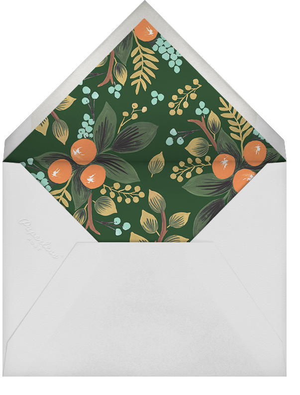 Orange Cluster (Invitation) - Rifle Paper Co. - Winter entertaining - envelope back