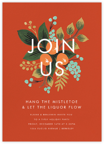 Orange Cluster (Invitation) - Rifle Paper Co. - Winter Party Invitations