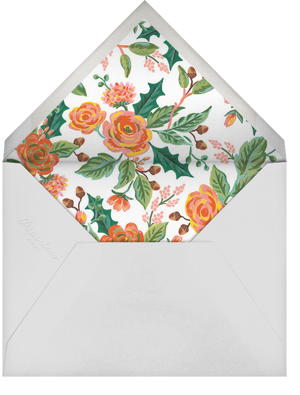 Jardin Noel Flourish - Red - Rifle Paper Co. - Christmas - envelope back
