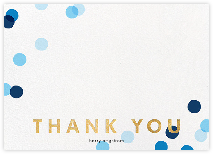 Carnaby Thanks - Blue/Gold - Paperless Post - Wedding thank you notes