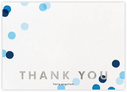 Carnaby Thanks - Blue/Silver - Paperless Post - Wedding thank you notes