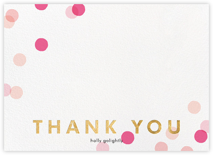 Carnaby Thanks - Pink/Gold - Paperless Post - Wedding thank you notes