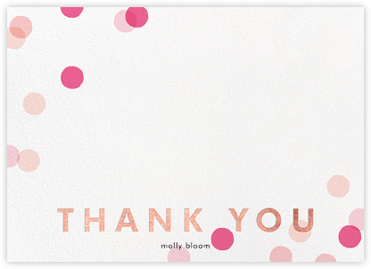 Carnaby Thanks - Multi/Gold - Paperless Post - Wedding thank you notes
