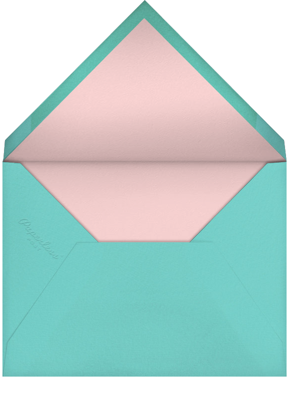 Carnaby Thanks - Multi/Rose Gold - Paperless Post - Wedding - envelope back