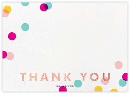 Carnaby Thanks - Multi/Rose Gold - Paperless Post - Wedding thank you cards