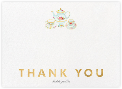 Petit Fours Thanks - Gold - Paperless Post - Kids' thank you notes
