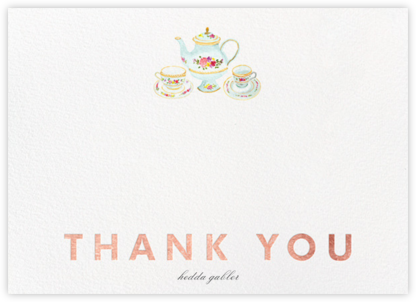 Petit Fours Thanks - Rose Gold - Paperless Post - Greetings