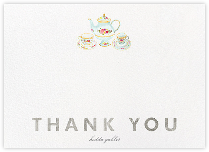 Petit Fours Thanks - Silver - Paperless Post - General thank you notes