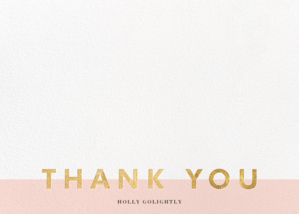 Field of Thanks - Meringue/Gold - Paperless Post - Wedding thank you notes