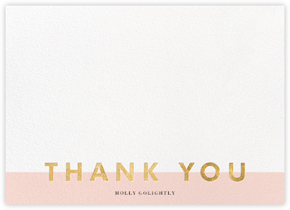 Field of Thanks - Meringue/Gold - Paperless Post - Wedding thank you cards