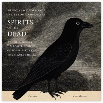 Raven - John Derian - Adult Halloween Invitations