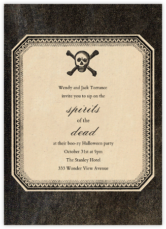 Skull and Crossbones - John Derian - Halloween invitations