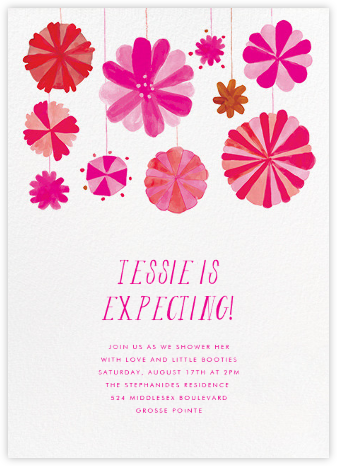 Blow Up the Balloons - Pink - Mr. Boddington's Studio - Baby Shower Invitations