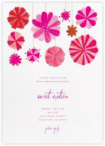 Blow Up the Balloons - Pink - Mr. Boddington's Studio - Sweet 16 invitations