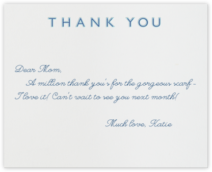Double Thank You (Blue with Navy) - Paperless Post