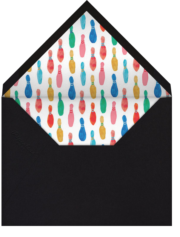 Hit the Pins - Mr. Boddington's Studio - Kids' birthday - envelope back