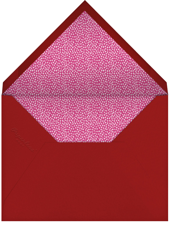 Hydrangeas and a Mitzvah - Cranberry - Mr. Boddington's Studio - Bat and bar mitzvah - envelope back