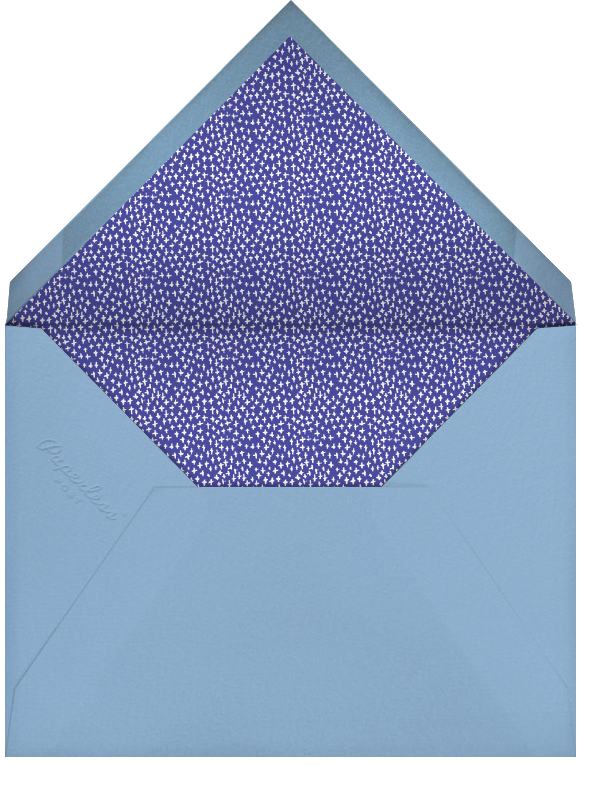 Hydrangeas and a Mitzvah (Photo) - Blue - Mr. Boddington's Studio - Bar and bat mitzvah - envelope back